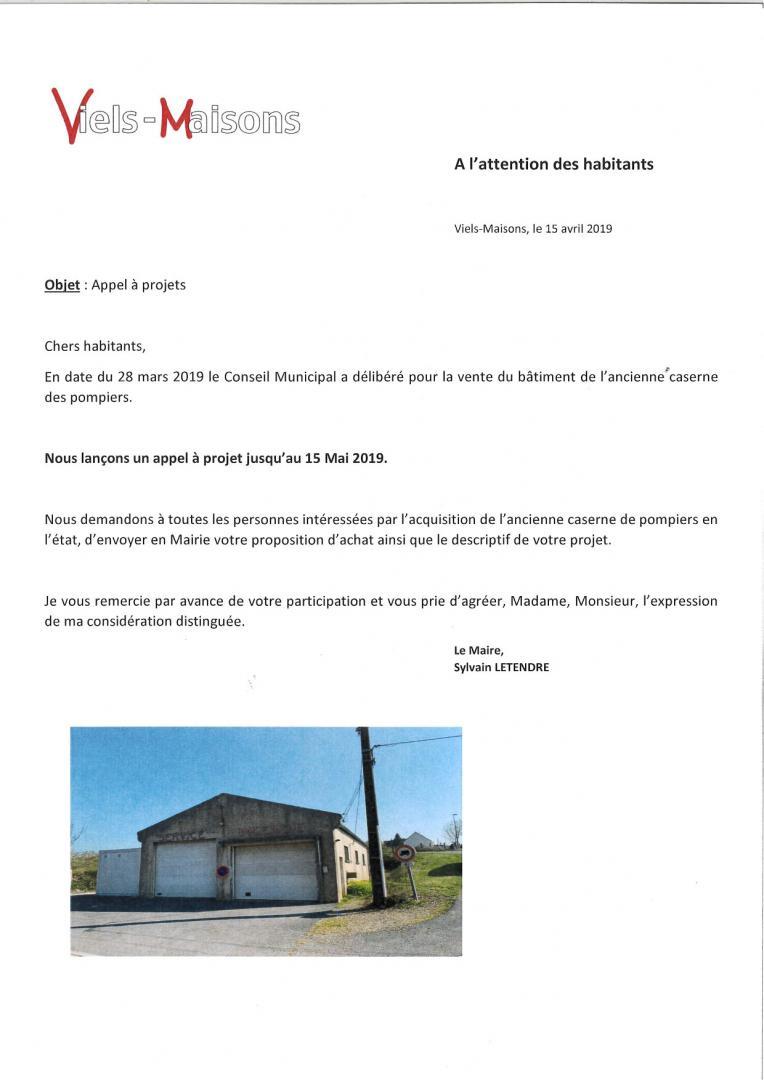 Appel à projets pour l'ancien centre de secours...
