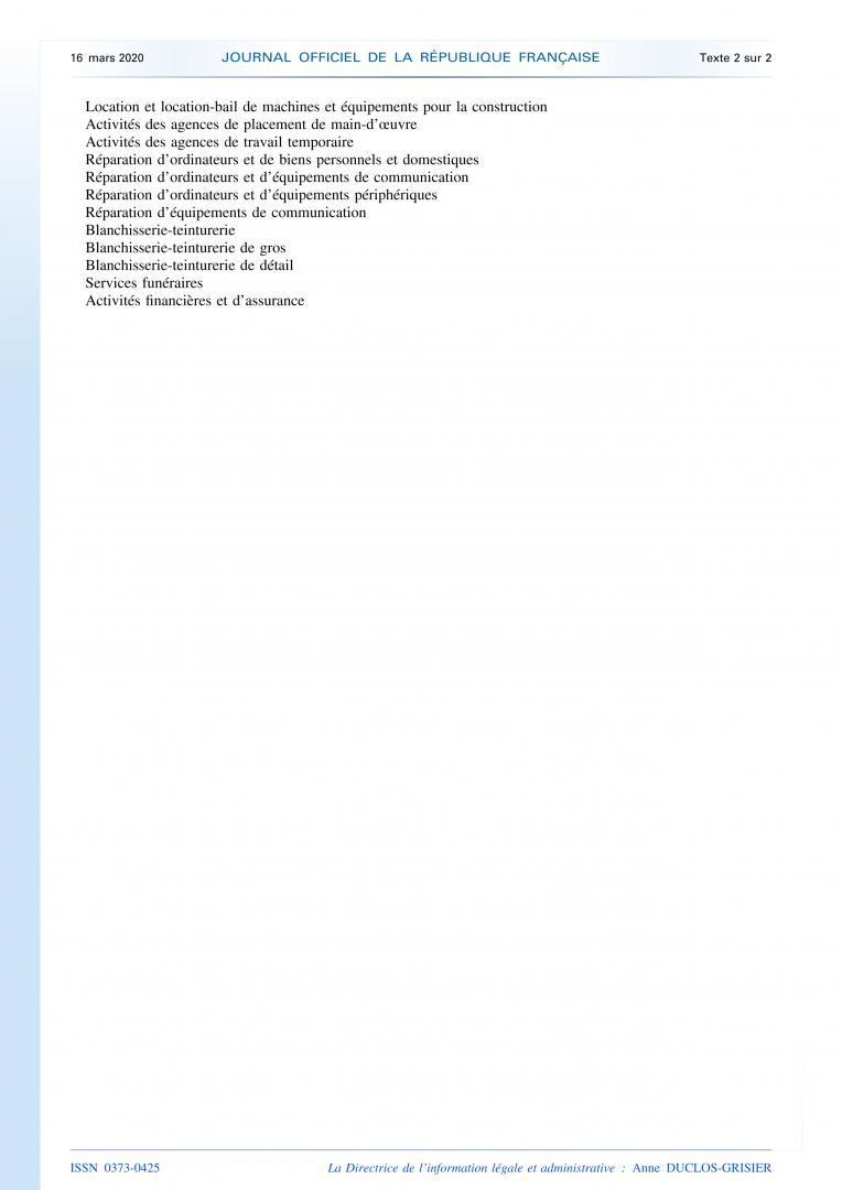 CP DU 16 MARS 2020 & DECRETS ARRETES CIRCULAIRES