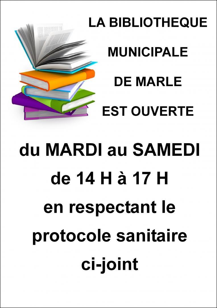 OUVERTURE DE LA BIBLIOTHÈQUE MUNICIPALE DE MARLE