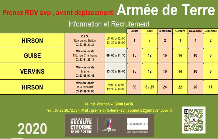 L'ARMÉE DE TERRE RECRUTE 2020-2