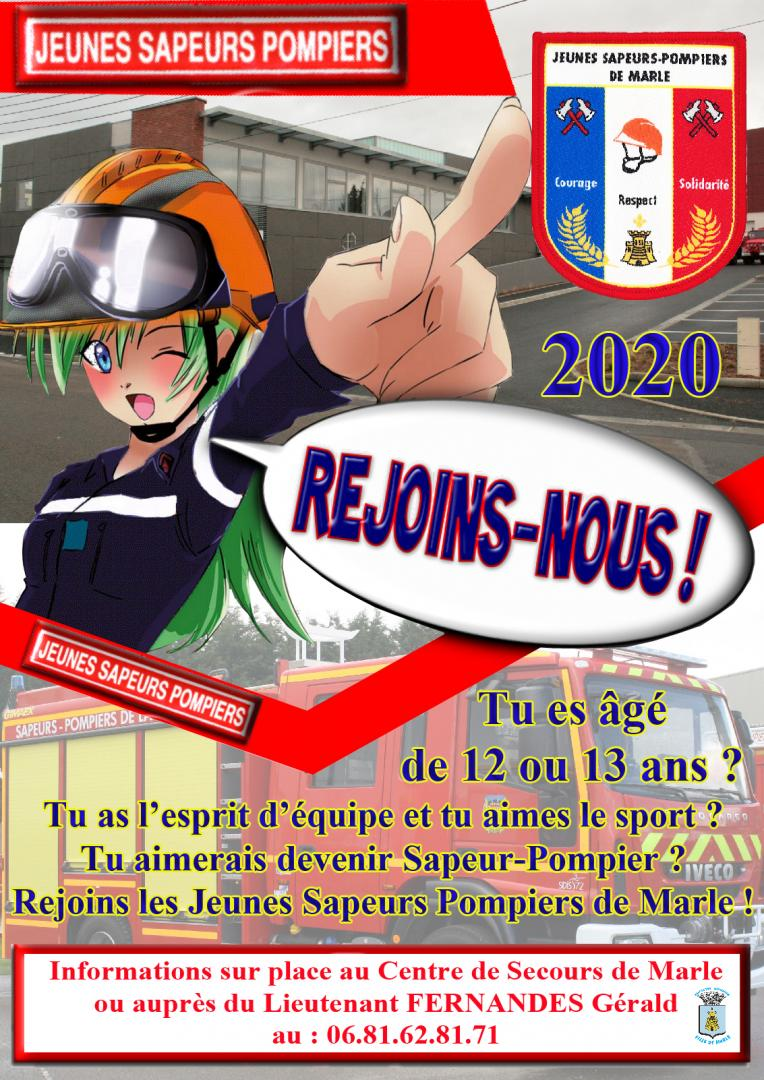 REJOINS LES JEUNES SAPEURS POMPIERS DE MARLE !