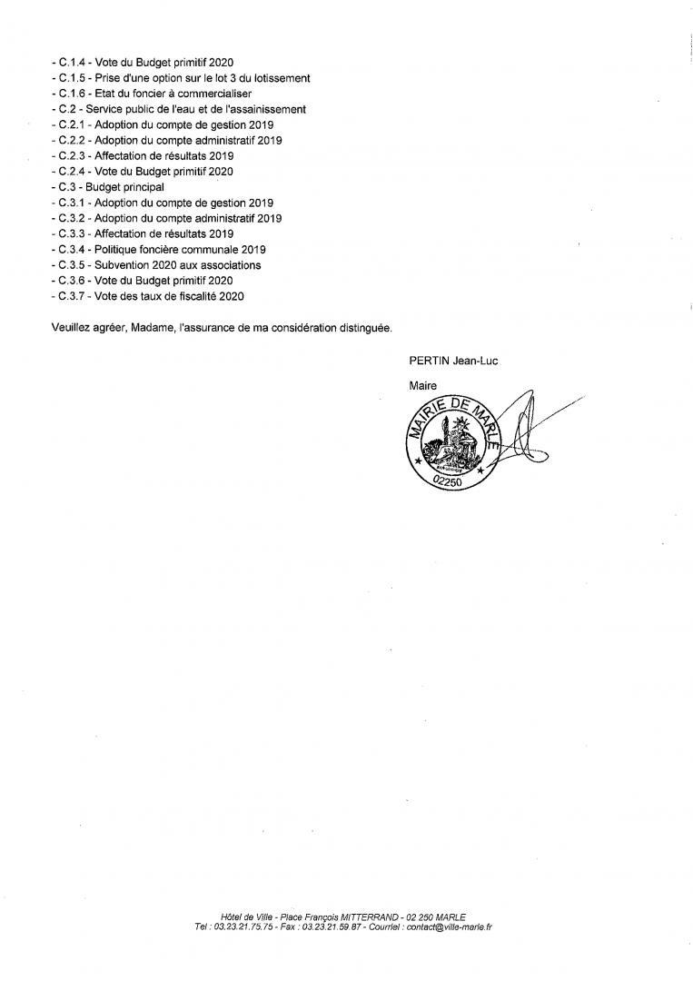 CONSEIL MUNICIPAL du Jeudi 02 Juillet 2020 - 2