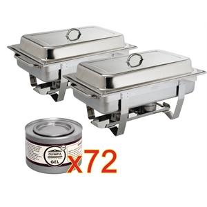 Offre spéciale : 2 chafing dish Milan et 72 capsules de combustible
