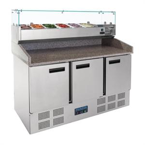 Comptoir réfrigéré de préparation à pizzas et salades 368L Polar