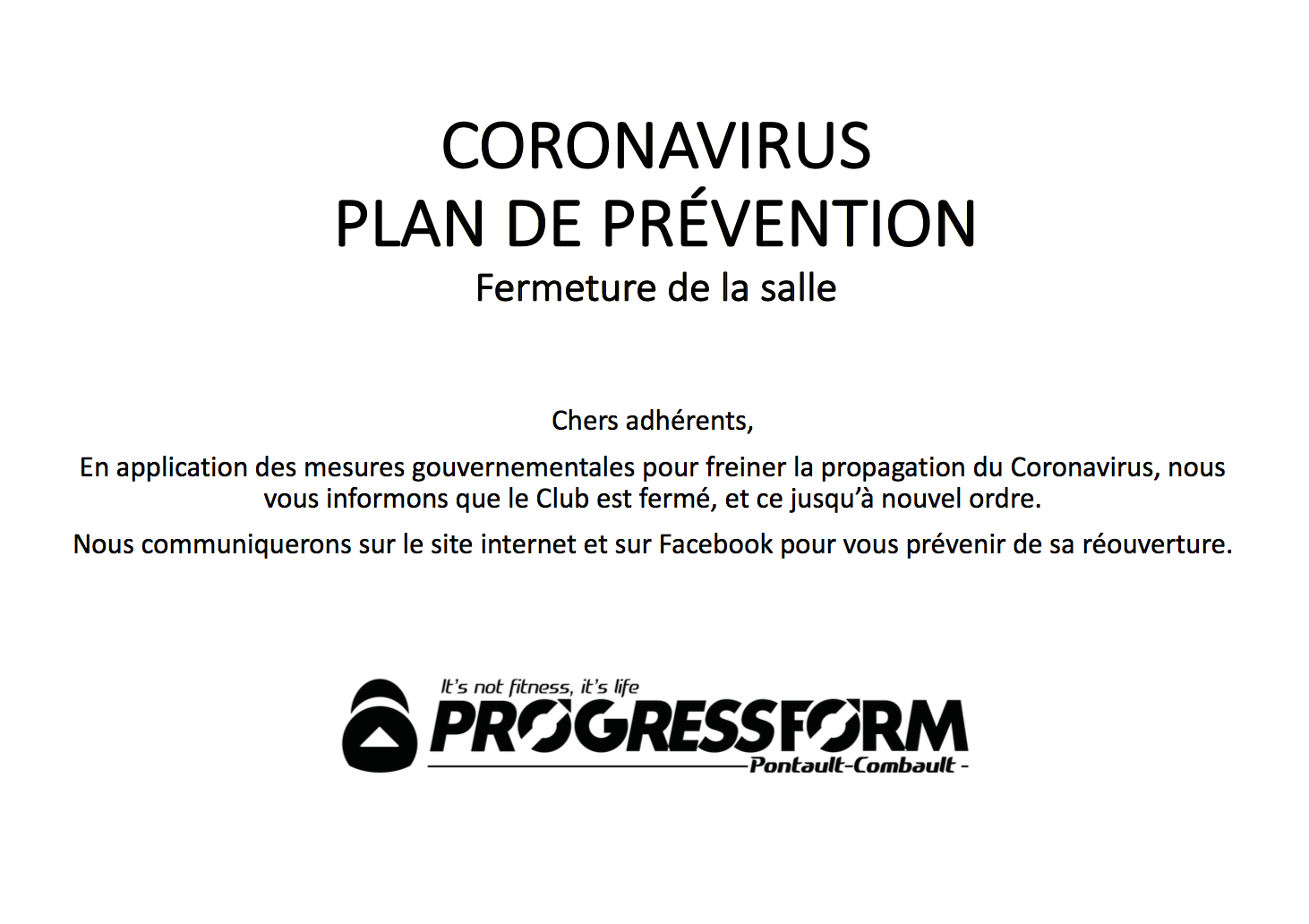 Bienvenue Chez Progress Form A Pontault Combault
